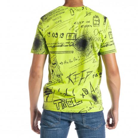 Мъжка зелена тениска Graffiti 2