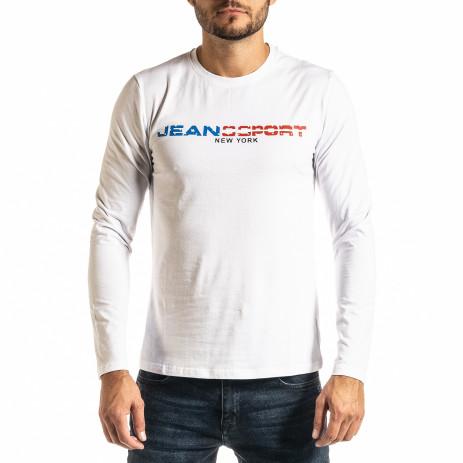 Мъжка бяла блуза Jeans Sport