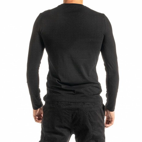 Мъжка черна блуза Jeans Sport 2