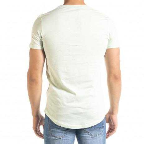 Basic O-Neck зелена тениска 2