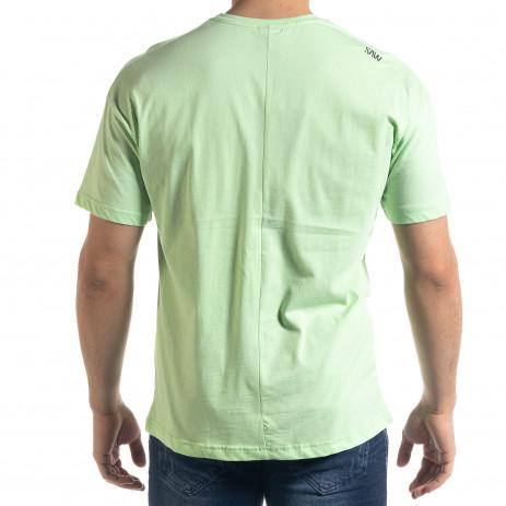 Мъжка зелена тениска The Beatles 2