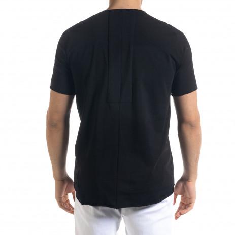 Basic мъжка черна тениска  2