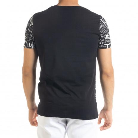 Мъжка черна тениска Thank You 2