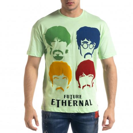Мъжка зелена тениска The Beatles
