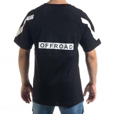 Мъжка черна тениска Outlow 2