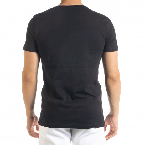Черна мъжка тениска Things 2