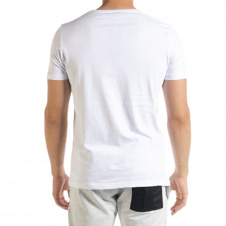 Мъжка тениска Panda NASA в бяло 2