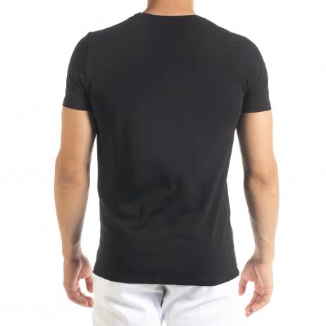 Черна мъжка тениска 1 2