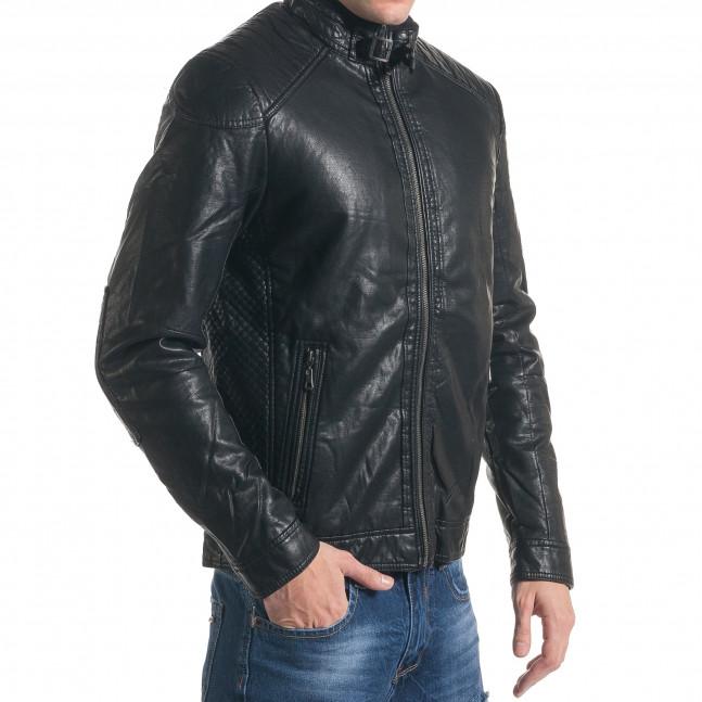 fdd3050659a ... Мъжко черно кожено яке с допълнителна подплата it211116-22 4 ...