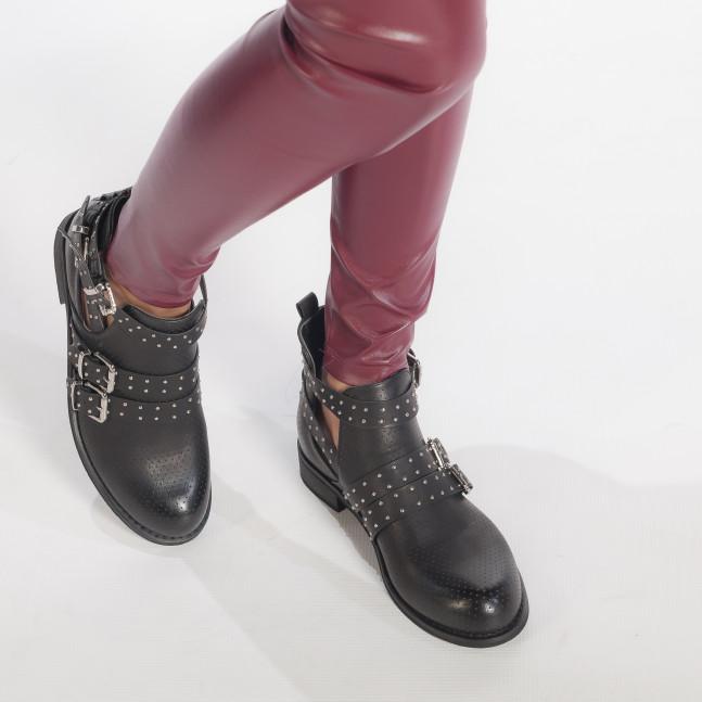 a44134677f9 Дамски пролетни боти в черно с каишки it240118-4 | Fashionmix.bg