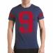 Мъжка синя тениска с голям номер 9 il170216-20 2