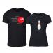 Тениски за двойки Bowling черни TMN-CP-226 2