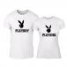 Тениски за двойки Playboy бели TMN-CP-250 3