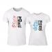 Тениски за двойки Angel Devil бели TMN-CP-260 2
