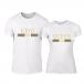 Тениски за двойки Fashion King Queen бели TMN-CP-244 2