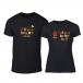Тениски за двойки Bee & Honey черни TMN-CP-232 2