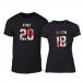 Тениски за двойки King & Queen 2018 черни TMN-CP-218 2