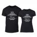 Тениски за двойки Romantic King Queen черни TMN-CP-249 2