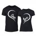 Тениски за двойки One Love черни TMN-CP-243 2