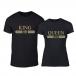 Тениски за двойки Fashion King Queen черни TMN-CP-245 3