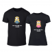 Тениски за двойки One in a Minion черни TMN-CP-230 2