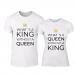 Тениски за двойки What Is King бели TMN-CP-256 2