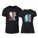 Тениски за двойки Angel Devil черни TMN-CP-261 2