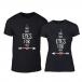 Тениски за двойки Eyes For You черни TMN-CP-259 2