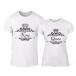 Тениски за двойки Romantic King Queen бели TMN-CP-248 2