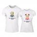 Тениски за двойки One in a Minion бели TMN-CP-229 2