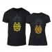 Тениски за двойки Pineapple черни TMN-CP-263 2