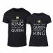Тениски за двойки What Is King черни TMN-CP-257 2