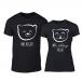 Тениски за двойки Bears черни TMN-CP-239 2
