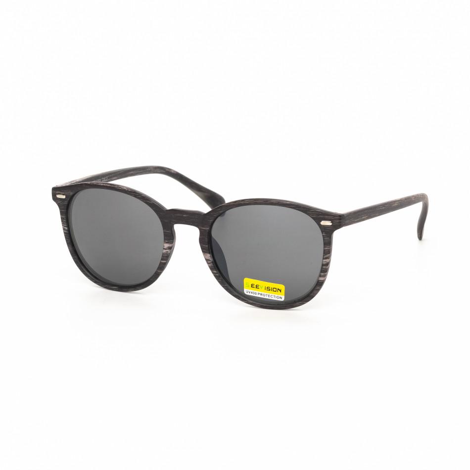 03eec929aa88 GrabitApp · Ανδρικά μαύρα γυαλιά ηλίου ξύλινο μοτίβο