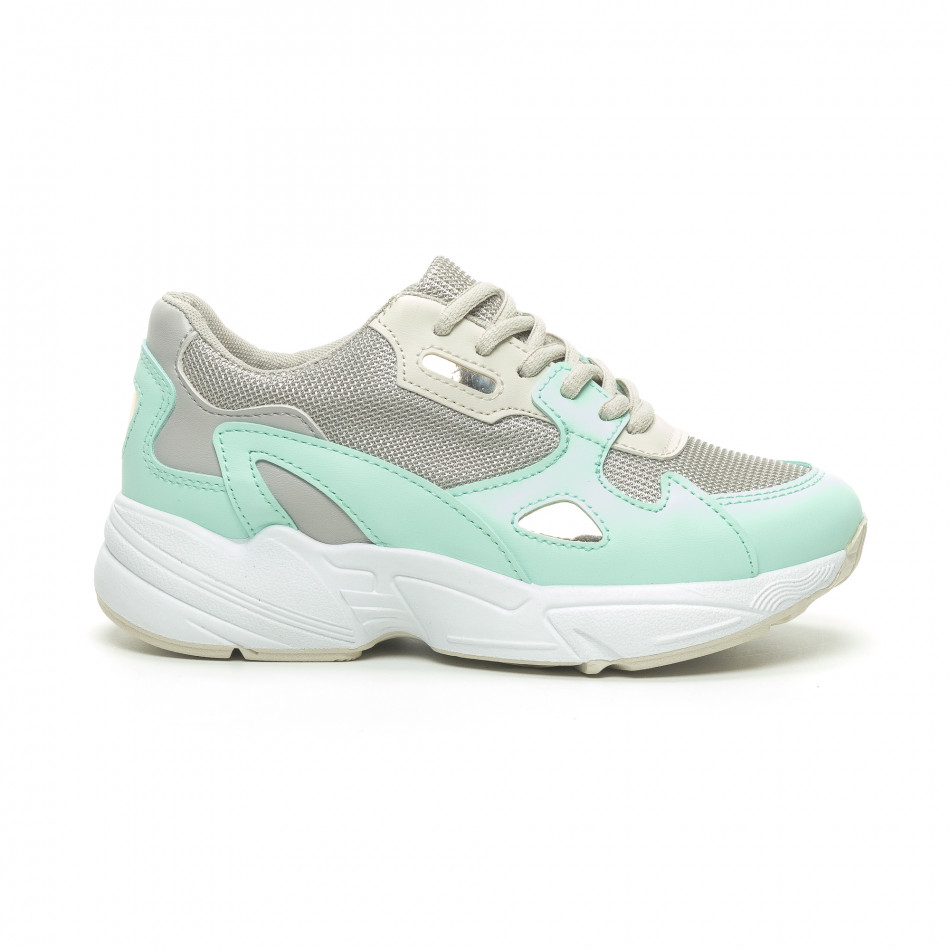8472b70a252 -20% Fashionmix Γυναικεία πράσινα αθλητικά παπούτσια με χοντρή σόλα