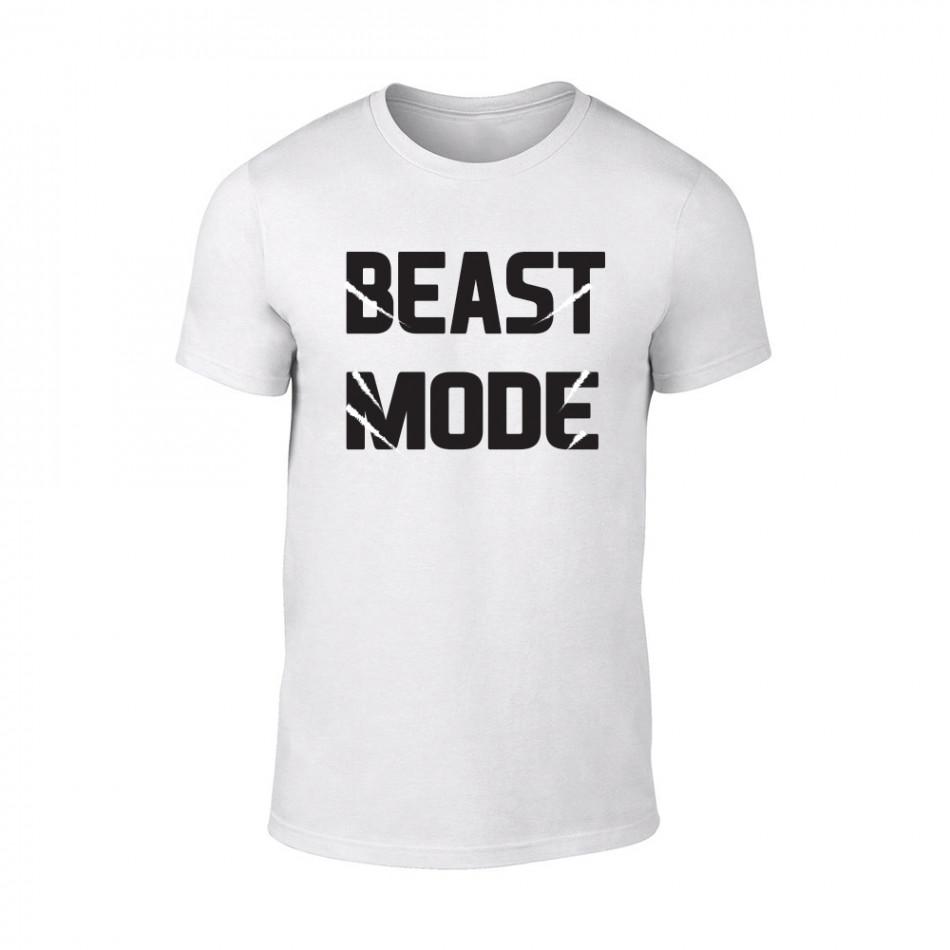 Κοντομάνικη μπλούζα Beast Mode λευκό