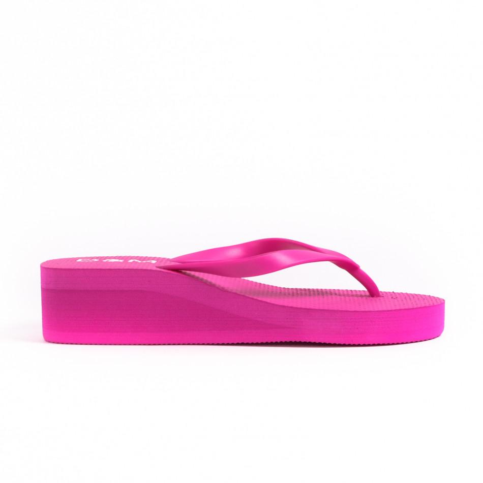 Γυναικείες ροζ παντόφλες D&M