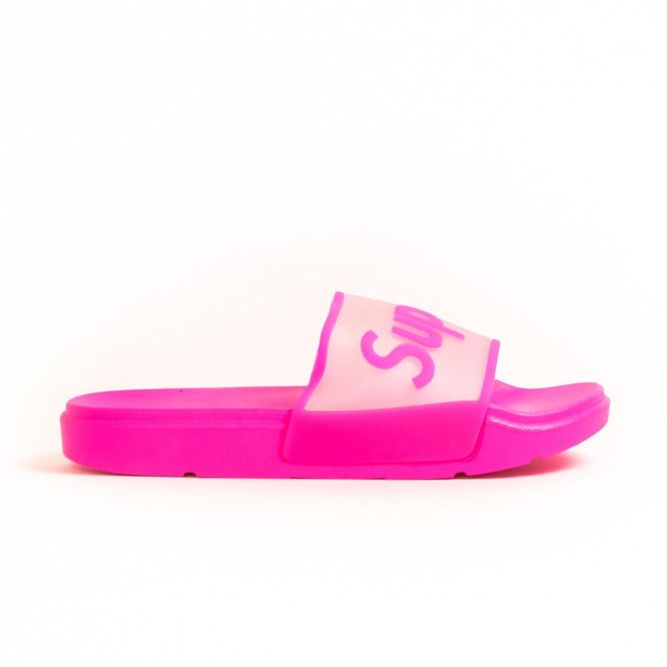 Γυναικείες ροζ παντόφλες Queen Vivi