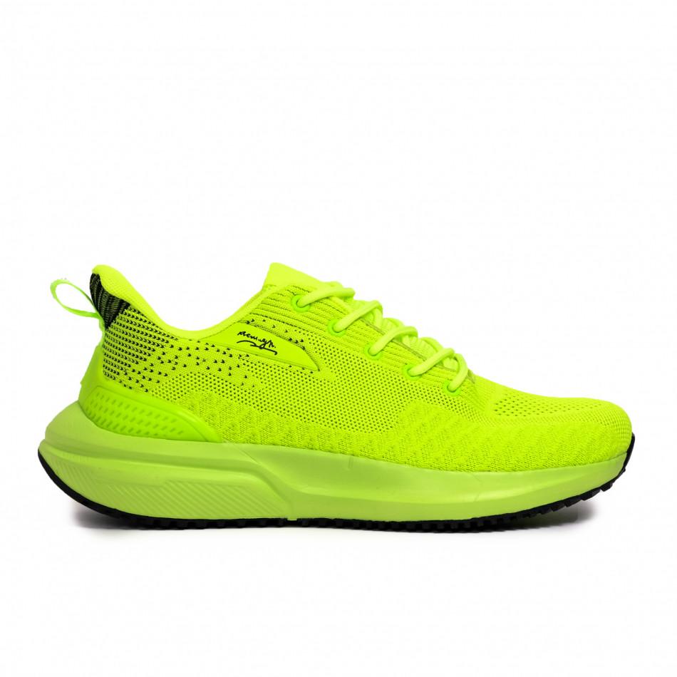 Ανδρικά πράσινα sneakers σε υφή