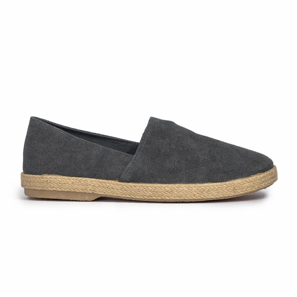 Ανδρικές γκρι εσπαντρίγιες Buondi & Shoes