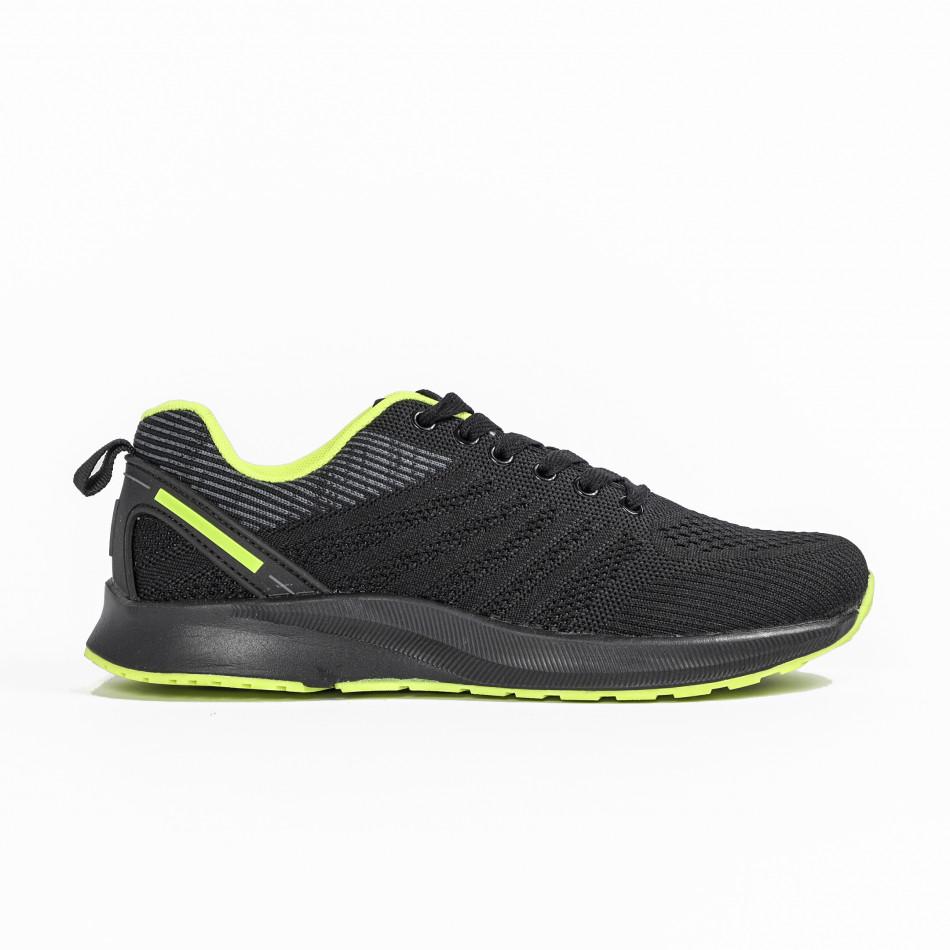 Ανδρικά μαύρα αθλητικά παπούτσια Bazaar Charm