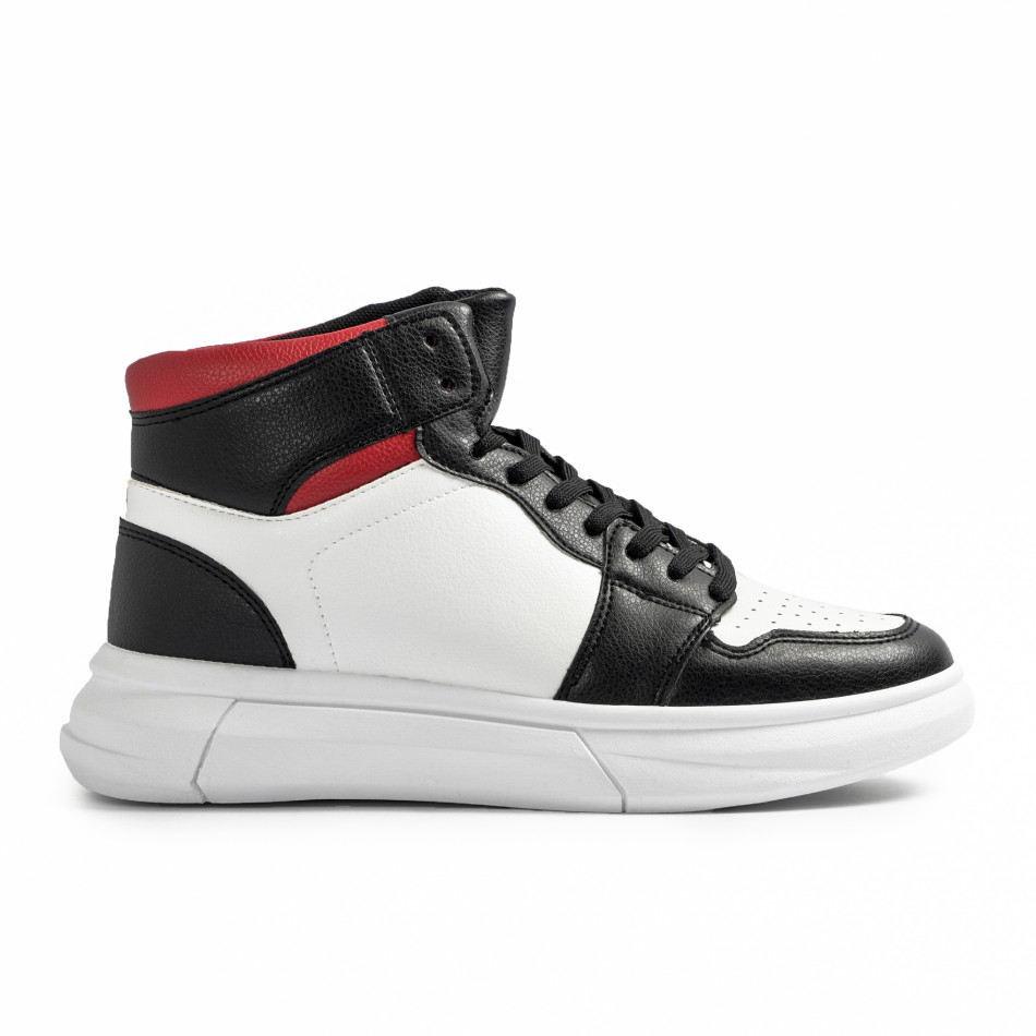 Ανδρικά sneakers σε λευκό και μαύρο