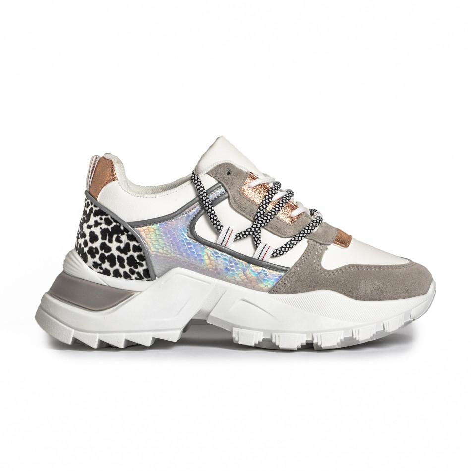 Γυναικεία Chunky sneakers με λεπτομέρεια