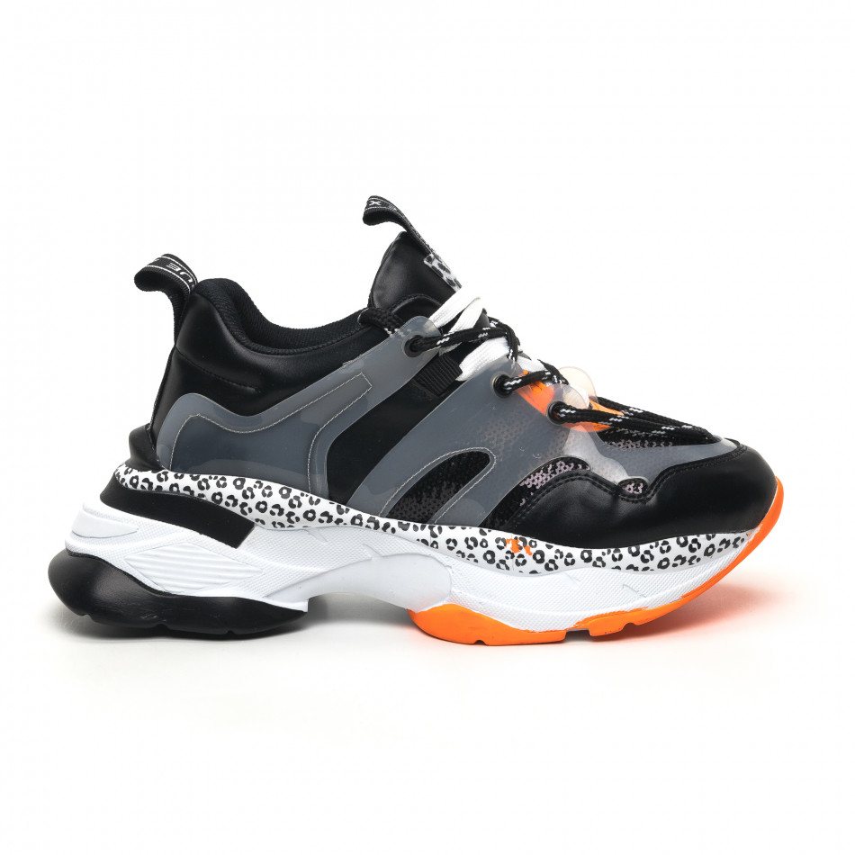 Γυναικεία μαύρα sneakers Sense8