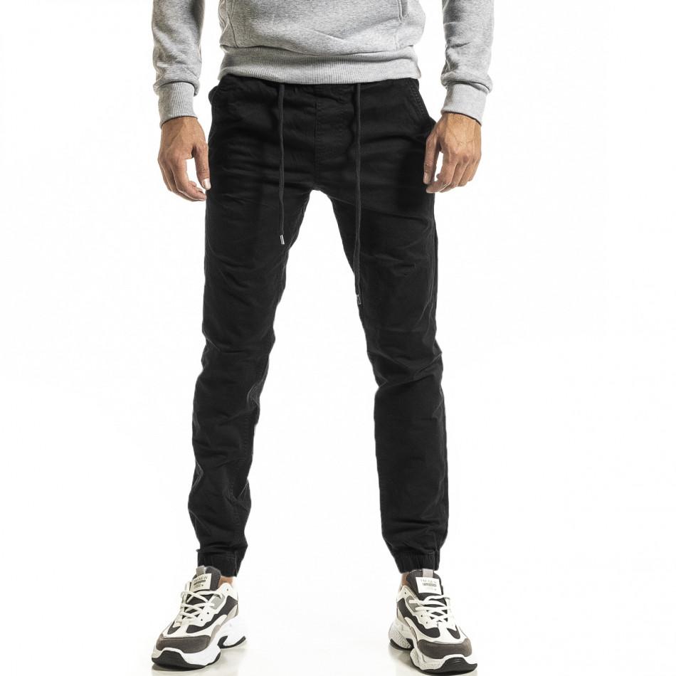Ανδρικό μαύρο παντελόνι Jogger