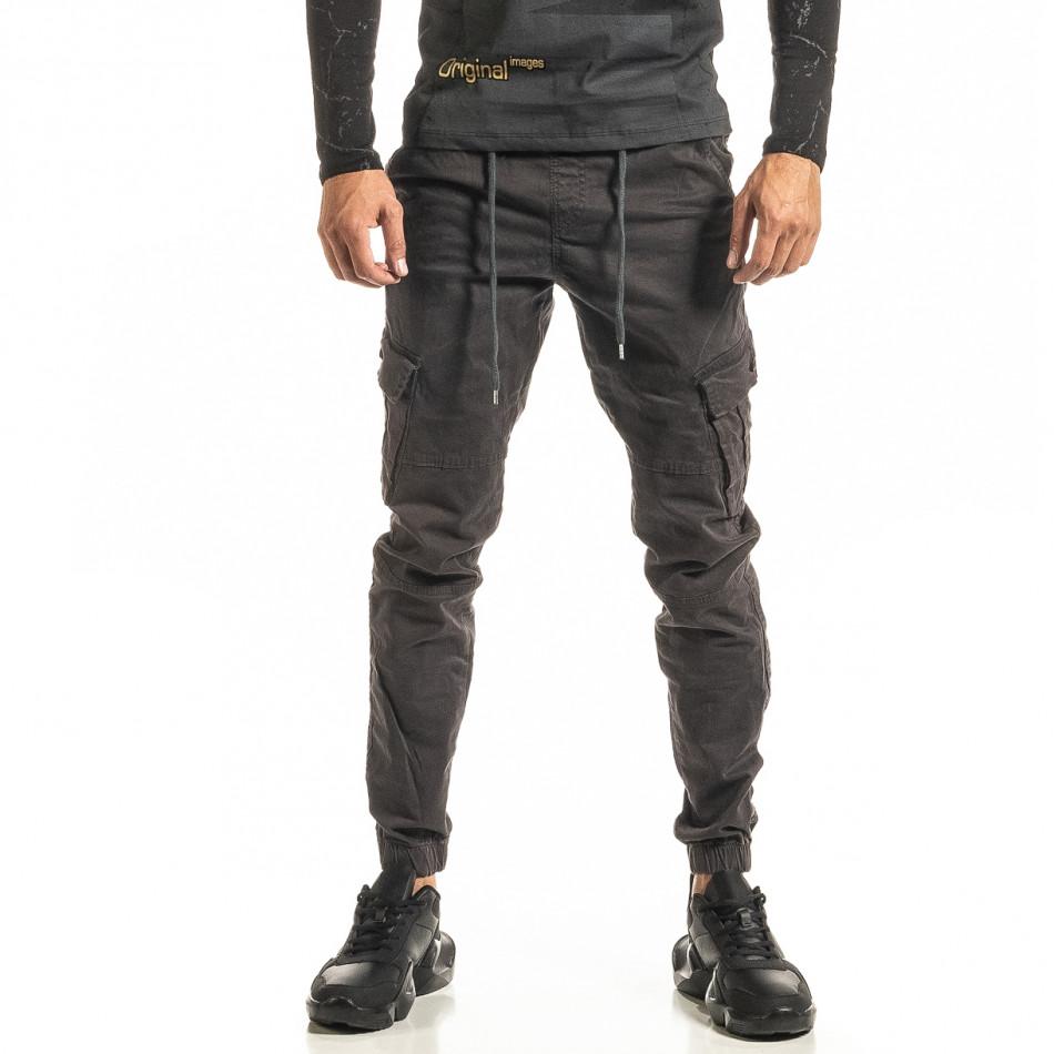 Ανδρικό γκρι παντελόνι cargo Jogger