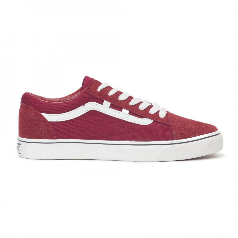 Ανδρικά κόκκινα υφασμάτινα sneakers Old Skool