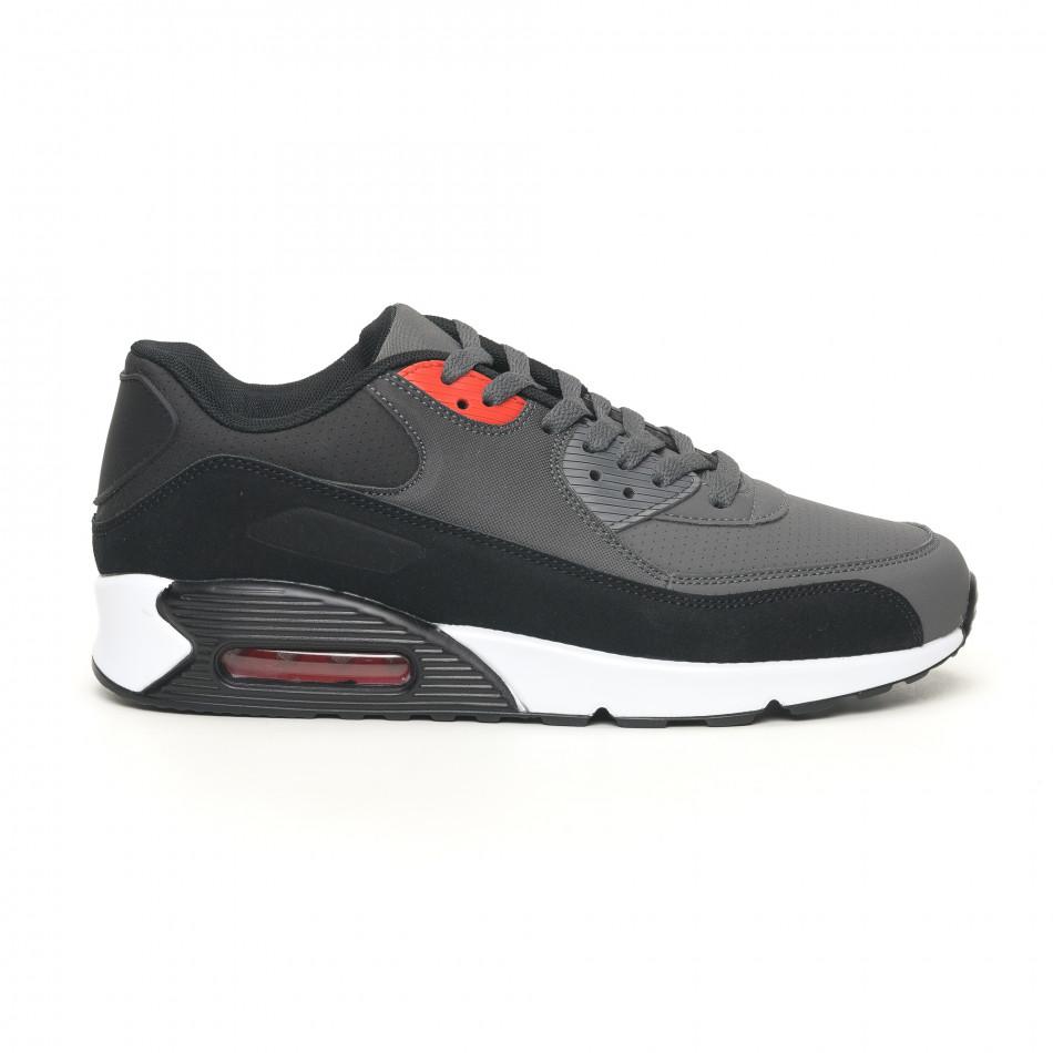 Ανδρικά μαύρα αθλητικά παπούτσια Jomix