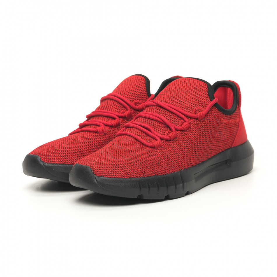 Ανδρικά κόκκινα μελάνζ αθλητικά παπούτσια ελαφρύ μοντέλο