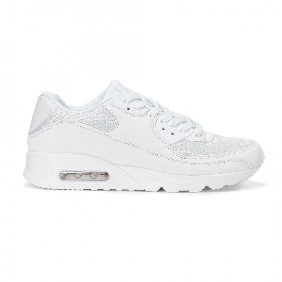 79927570917 Ανδρικά λευκά αθλητικά παπούτσια με σόλες αέρα